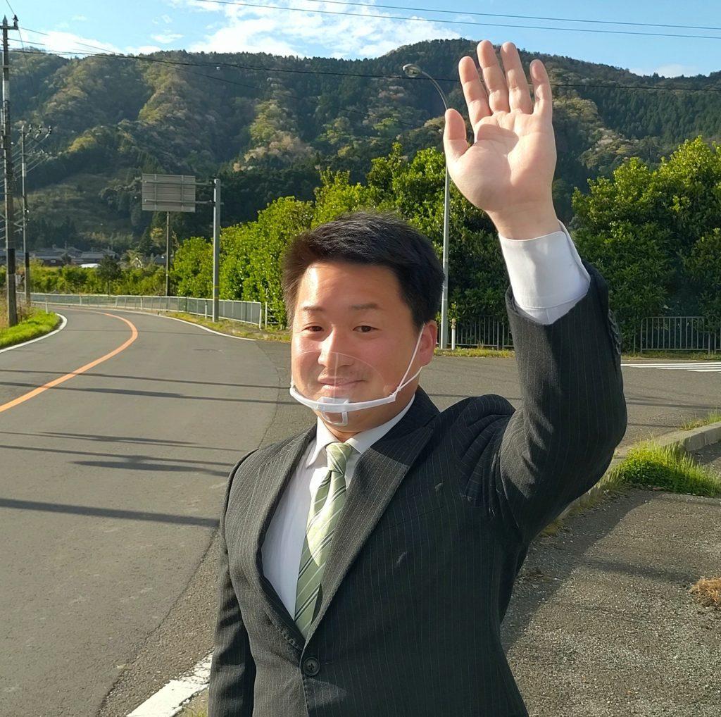 辻立ち:西田公民館前